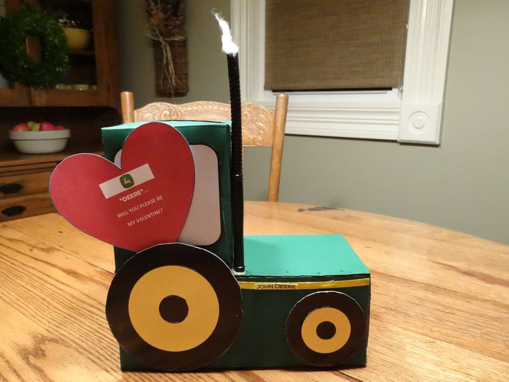 Tractor Valentine Cards : Our boys love trucks and tractors so when it came to