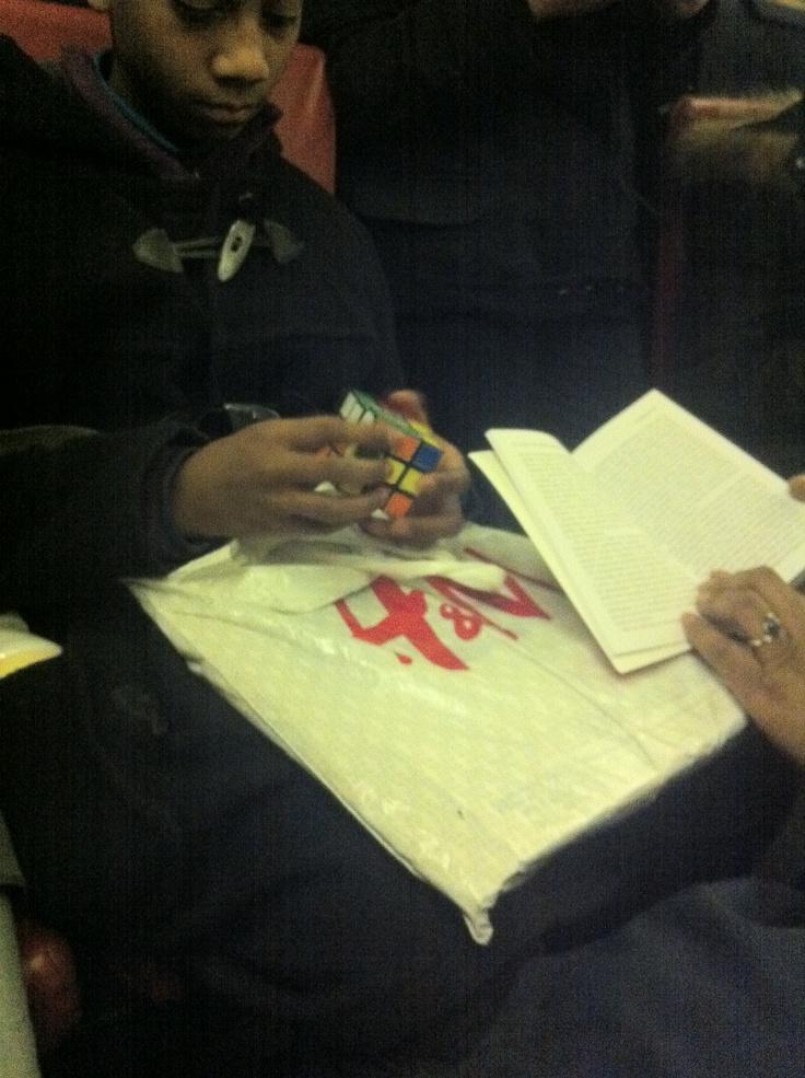 rubiks cube RER B Denfert Rochereau 08/11/2012