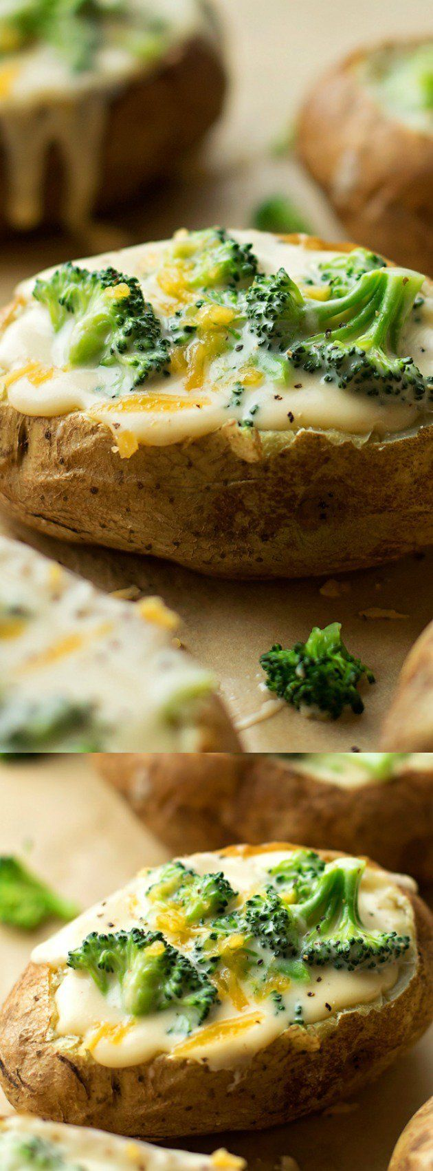 Cheesy Broccoli Stuffed Potatoes