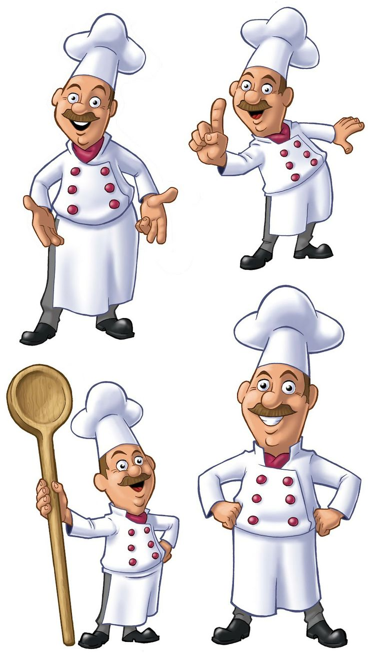 Chefs! #clipart #patterns #colored #paintpatterns #designs