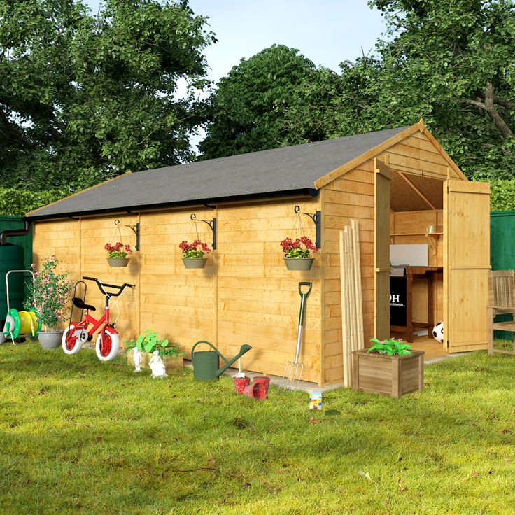 Billyoh 16 X 10 Windowless Economy Overlap Apex Garden Shed 30 Range I Love My Shed Pinterest Gardens Garden Sheds And Sheds