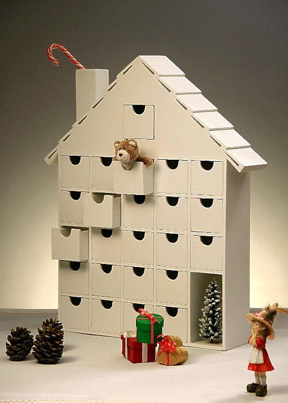 Wooden Advent Calendar  DIY by StardustKay on Etsy, $148.00