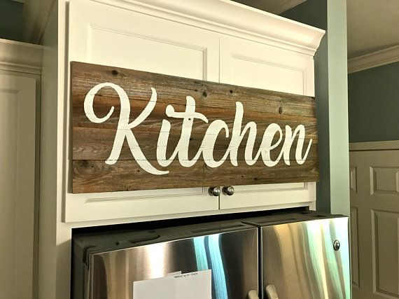 Large Reclaimed Wood Kitchen Sign Rustic Wood Sign Kitchen Wood