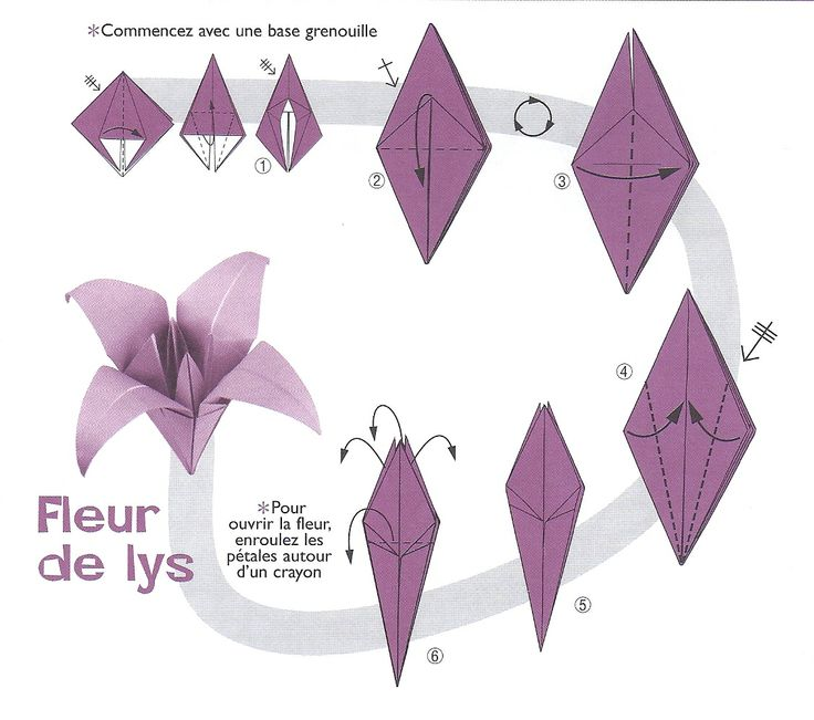 origami fleur de lys activit s manuelles pinterest origami. Black Bedroom Furniture Sets. Home Design Ideas