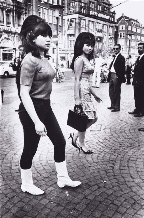 Two Indonesian Girls, Amsterdam, 1966. Photo by Ed van der Elsken.