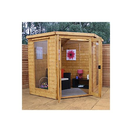 7X7 Shiplap Timber Summerhouse   Departments   DIY at B&Q