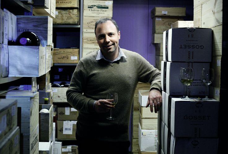 Vos crus prestigieux gardés tels des trésors. Filip Opdebeeck, Au Bonheur du Vin. © David Huc