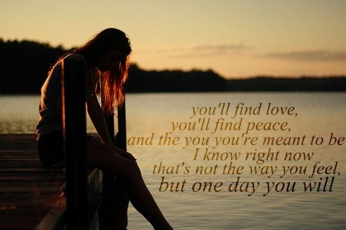 one day you will....love this song.... Took these words to heart many times. Love Lady A!!!!