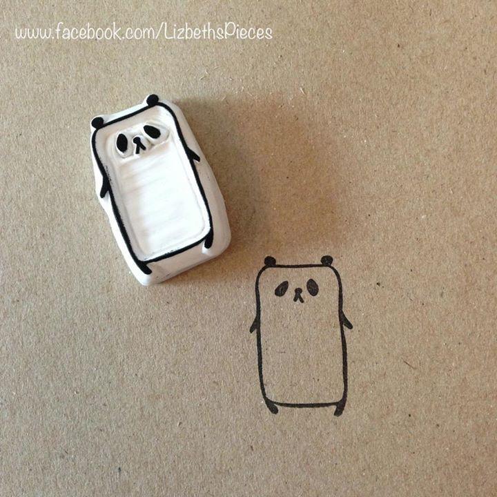 panda stamp diy #cute #stamp #diy
