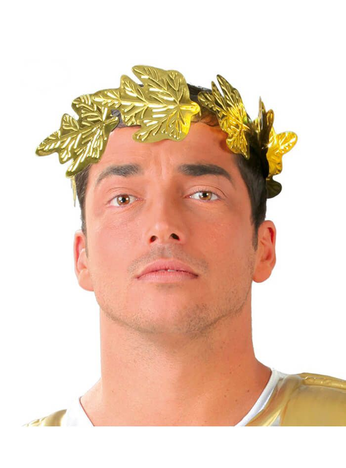 Corona romana dorada de hojas | Comprar online