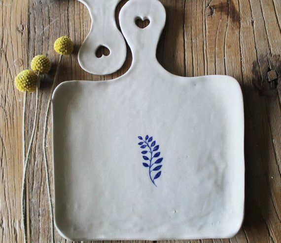 Hand Shaped Porcelain Serving cheese boards set of 4