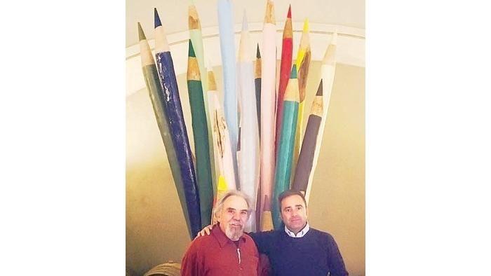 Le matite giganti colorano le vigne di Pico Maccario - La Stampa