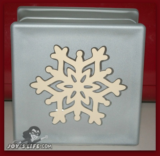 How to make a Frosted Glass Vinyl Snowflake Block