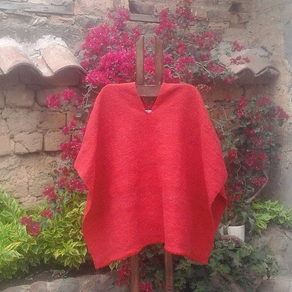 Hand Woven Ruana 100% Pure Wool Ruana / Weaving by CasaLunaCo