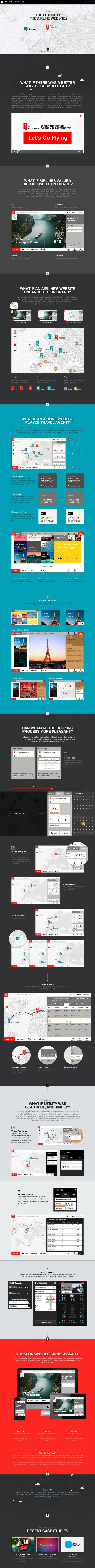 The Future of Airline Websites(?) by chris rubin, via Behance