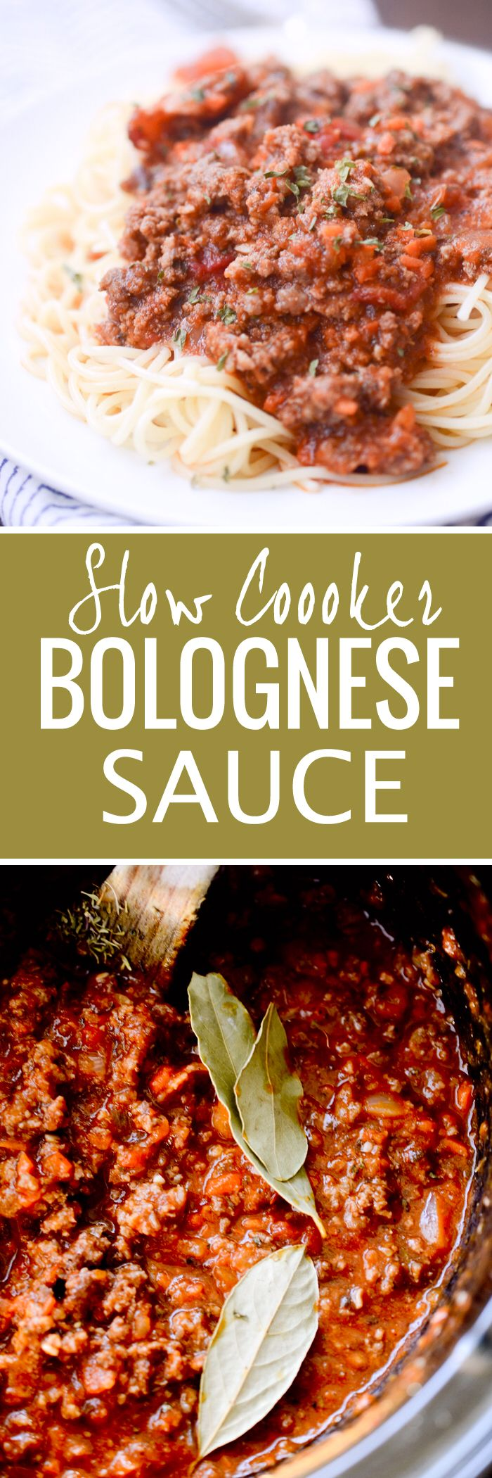 Slow Cooker Bolognese Sauce - Recipe Diaries