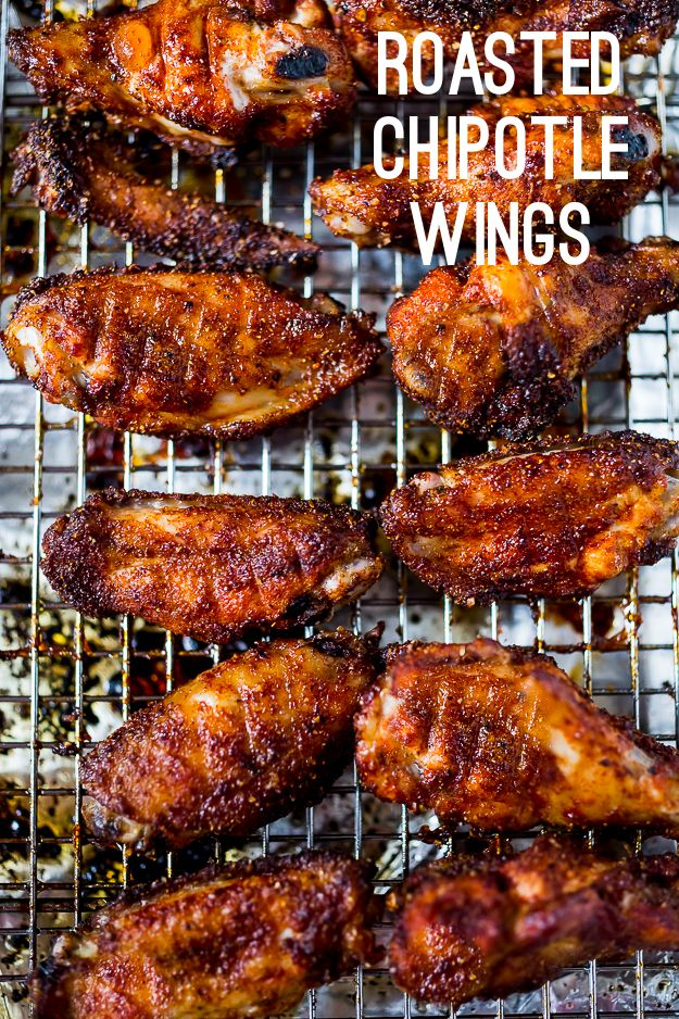 Baked Chipotle Wings- a fast healthy approach to wings! www.feastingathome.com