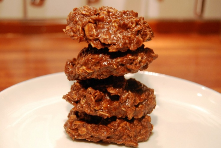 super easy nutella no bake cookies, can make with old fashioned oats ...