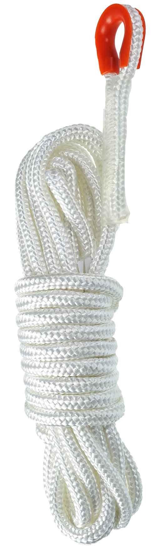 15 Meter 12mm diameter Static Rope, White