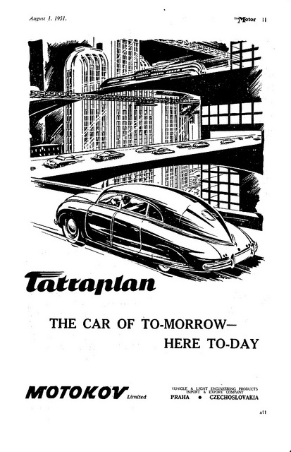 Tatraplan: The Car of Tomorrow - Here Today, 1951 by Frantisek Kardaus