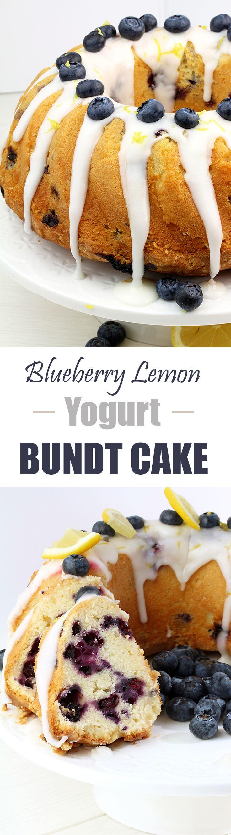 Blueberry Lemon Yogurt Bundt Cake – blueberry and lemon bination with a lemon icing give