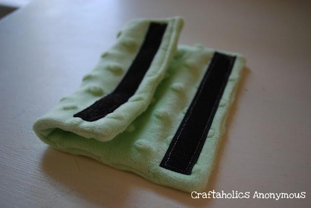 DIY Car Seat Strap Covers