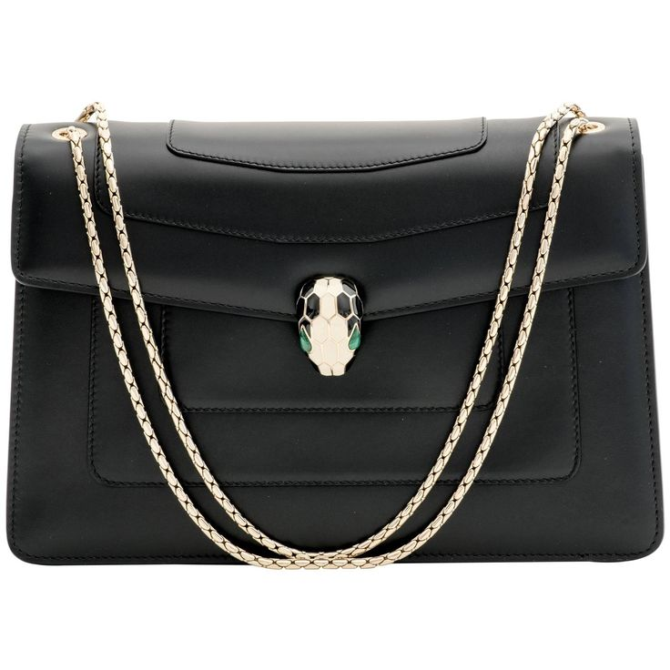 Bulgari Serpenti Forever Shoulder Bag | From a collection of rare vintage shoulder bags at https://www.1stdibs.com/fashion/handbags-purses-bags/shoulder-bags/