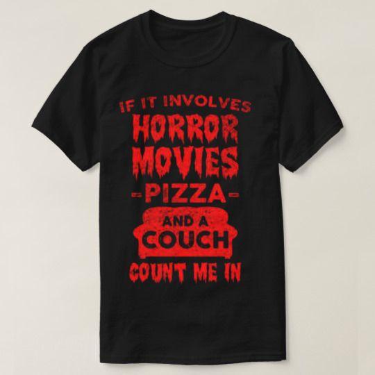 Horror And Pizza Halloween Custom Shirts