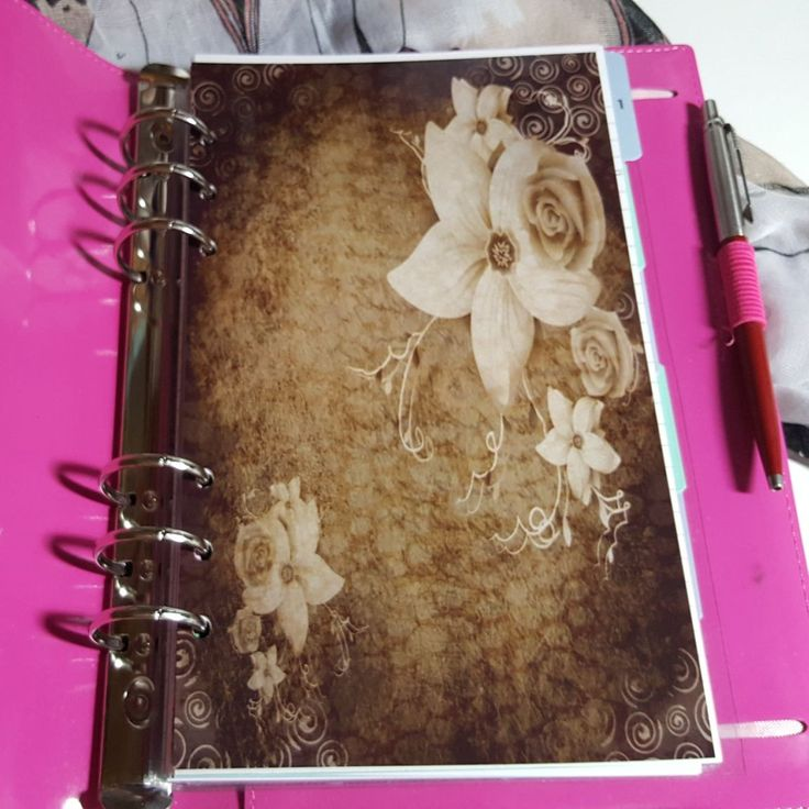 Sepia Rose A5 Planner Dashboard Ready to go by CarolFleetDesigns on Etsy