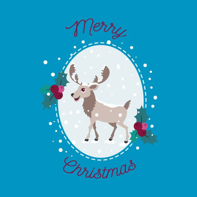 Check out this awesome 'Merry Christmas - Moose and snow' design on @TeePublic! #xmas #winter #snow #santa #santaclaus #holidays #merrychristmas #merry-xmas #happyholidays #holiday-clothing #ice #moose #cute-animals #holly #reindeer