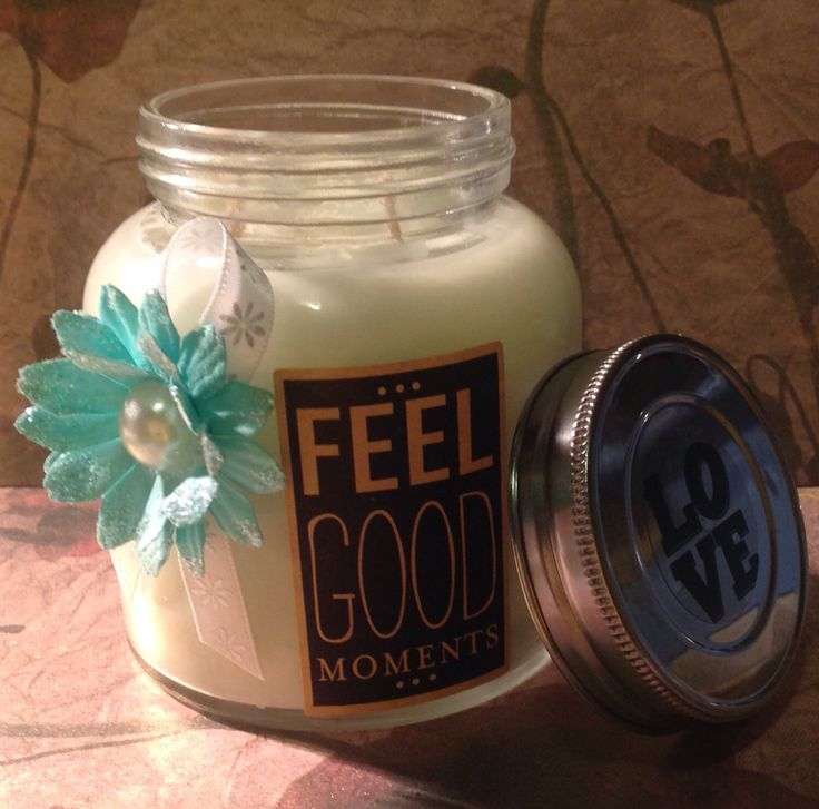Feel Good  Soy Candles  made by Elly Baba's Treasures $15