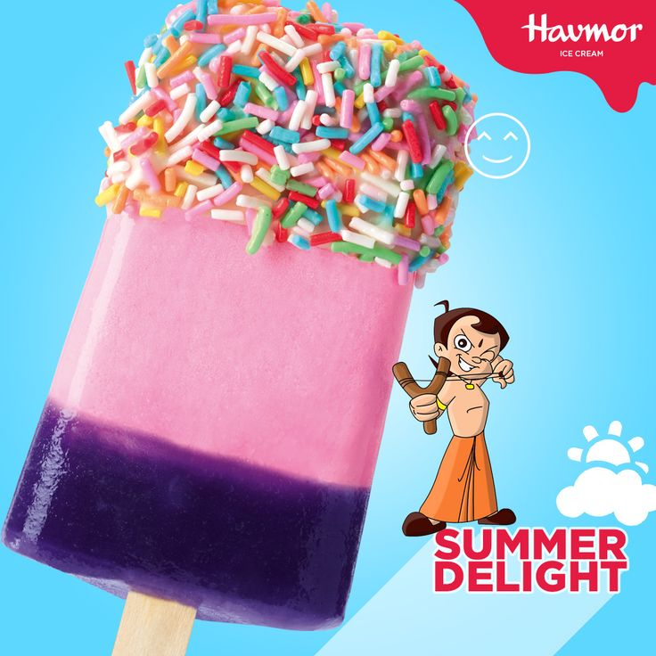 Taste the vibrant colours of Rainbow Sparkle ice cream from our brand new range of Chotta Bheem #SummerDelight ice creams.