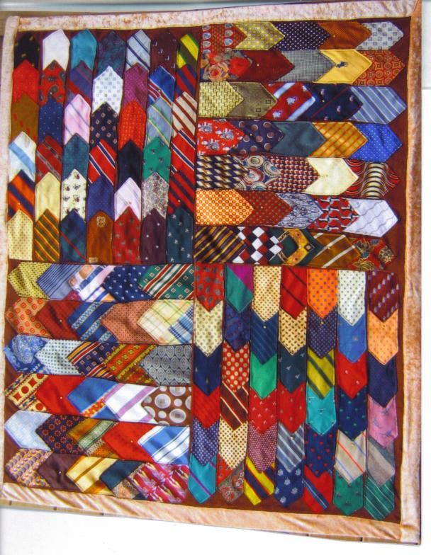 50 years of ties...made for Jeanne with her hubby's ties for their 50th wedding anniversary.
