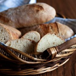 Julia Child's French Bread recipe adapted for a Kitchen Aid mixer.