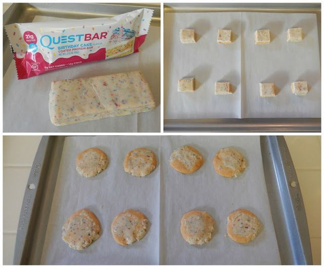 Eggface Snack Idea: Birthday Cake Quest Protein Bars turned into Cookies