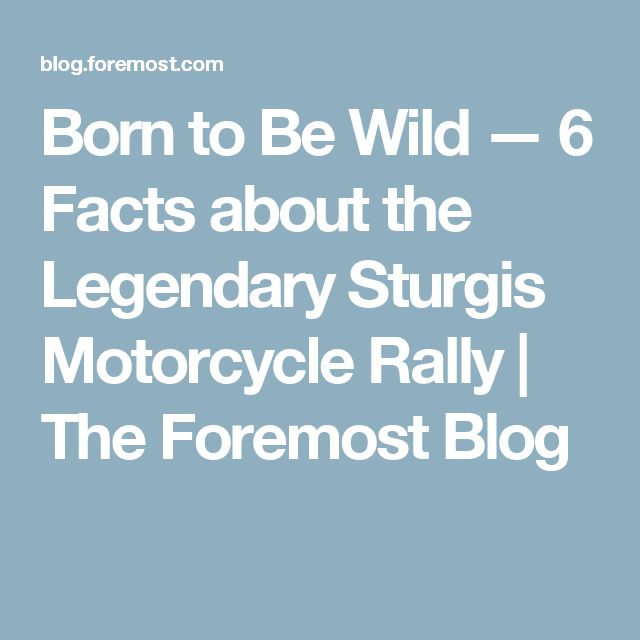 Born to Be Wild — 6 Facts about the Legendary Sturgis Motorcycle Rally | The Foremost Blog