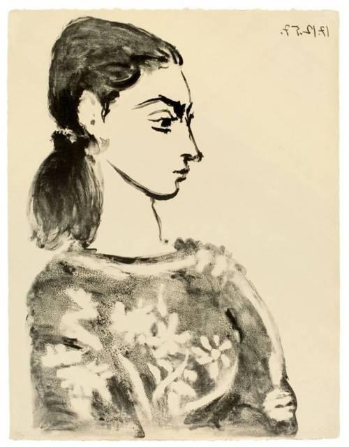 Picasso | Femme au corsage à fleurs | 1957 | Lithografie #art