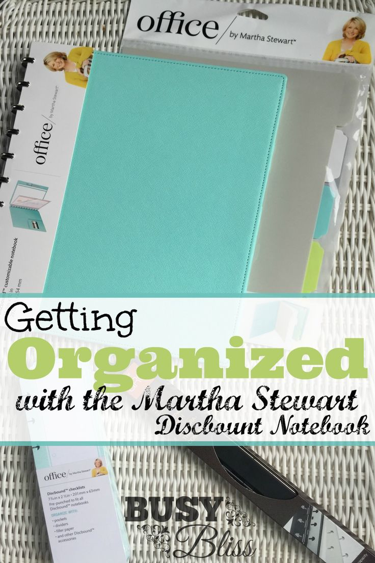 Getting Organized with the Martha Stewart Discbound Notebook--I love the spring colors of this notebook.  I could use a little organization in my hectic life!