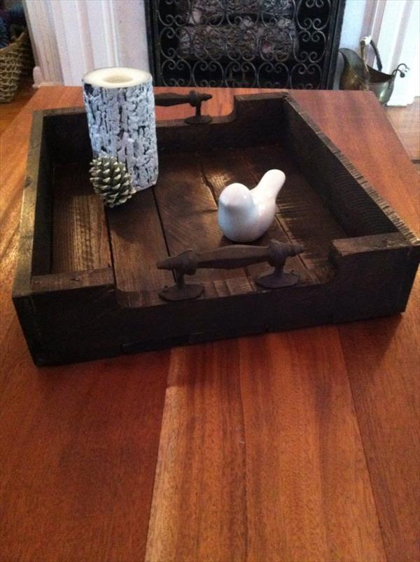 DIY Pallet Rustic Tray | Pallet Furniture DIY