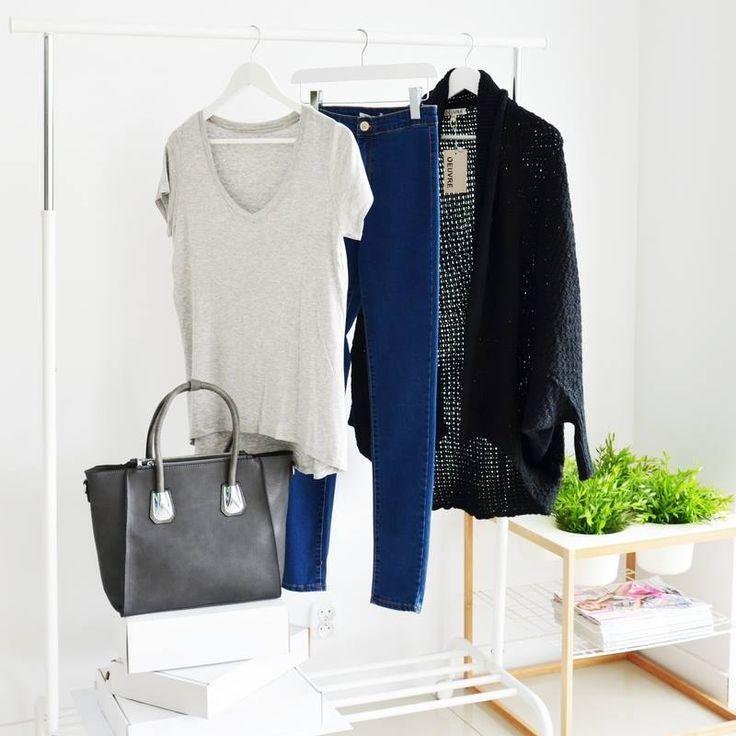 CARDIGAN SWEATER BLACK I MONASHE.PL - Sklep online z modna odzieza.