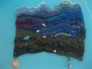 Freeform crochet seascapeMake Crochet, Makes Crochet, Freeform Crochet, Crochet Seascape