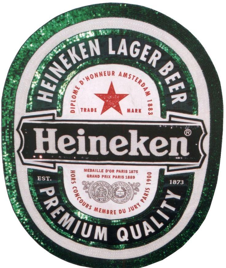 Heineken haftowana plansza reklamowa. Haft AHA STUDIO