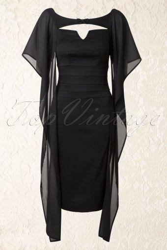 Miss Candyfloss Leonore Black Pencil Dress 100 10 13709 20141013 0024W