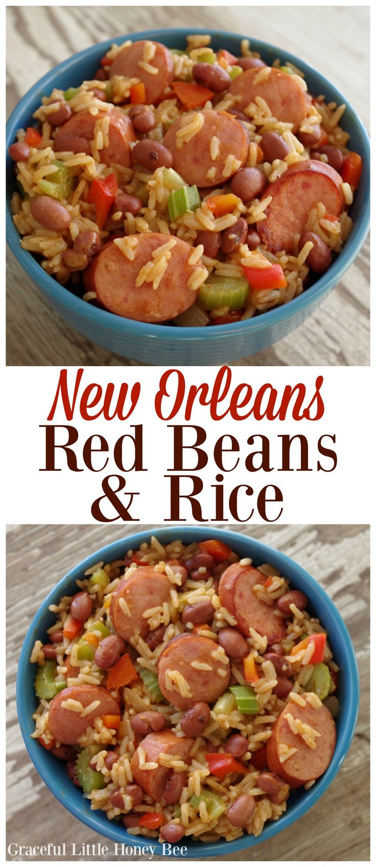 Try this classic New Orleans Red Beans & Rice for a fun and flavorful weeknight dinner that the whole family is sure to love!