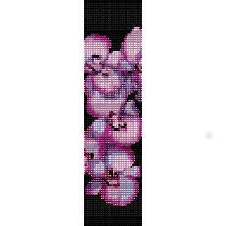 Instant Download Beading Pattern Loom Stitch Bracelet Orchid Seed Bead Cuff on Etsy, $5.00