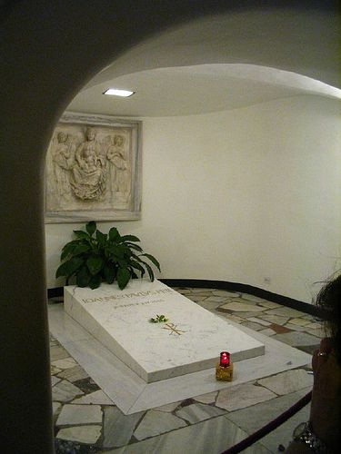 Pope John Paul II's tomb. The Vatican.