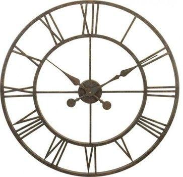 River City Clocks Metal Skeleton Tower Clock - Large Wall Clock transitional-wall-clocks