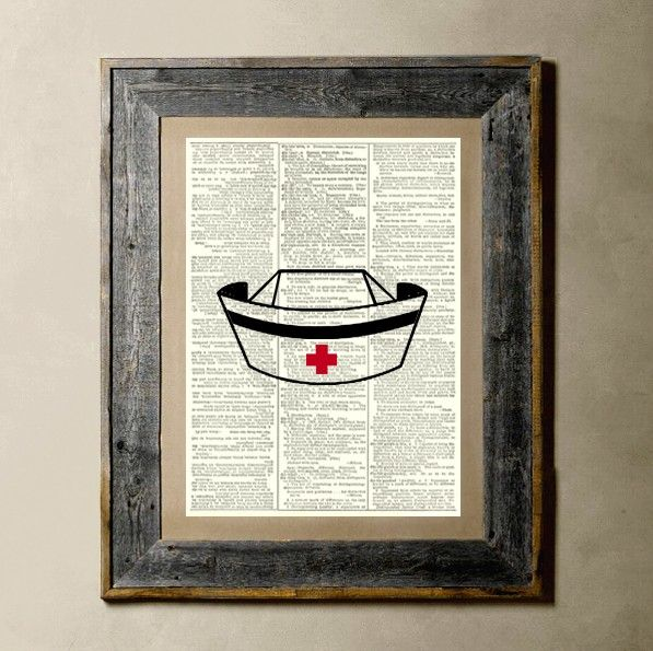 Nurse Hat  Printed on a Vintage Dictionary Page by TheLittleRice, $6.50