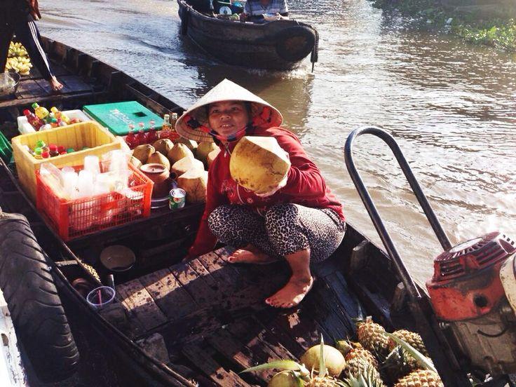 Floating Markets on the Mekong Delta - Vietnam