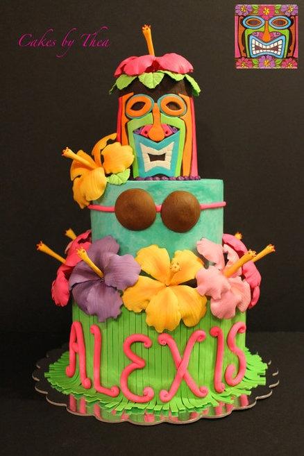Luau Cake Designs | Hawaiian Luau Cake - by Bakermama @ CakesDecor.com - cake decorating ...